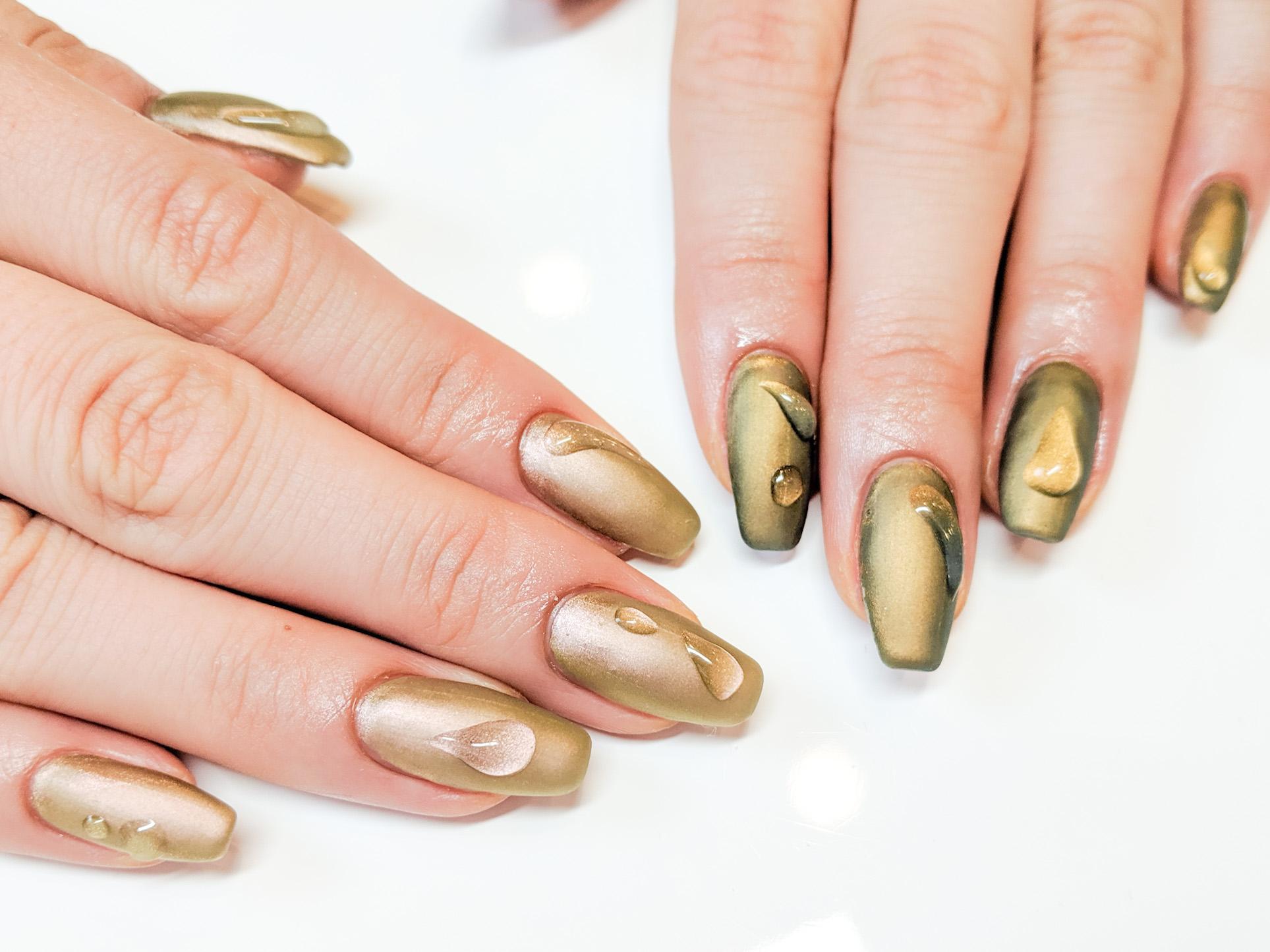 Metallic nail